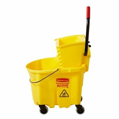 NEW Rubbermaid Commercial WaveBrake 35-Quart Commercial Mop Wringer Bucket
