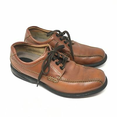 7b5b7380524048 Men s Clarks Colson Over Shoes Oxford Size 8M Brown Leather Bicycle Toe  Dress K4