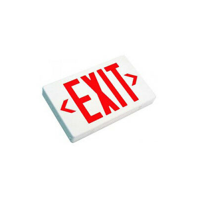 LED Exit Sign -Double Face, Red Letters, White Housing and Emergency Battery Bac