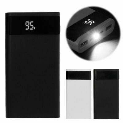 QC 3.0 Type C PD 6x 18650 Battery Power Bank Box LED Light Dual USB Chargers