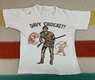 Vintage 50's Davy Crockett Walt Disney Waterprint Youth T-Shirt