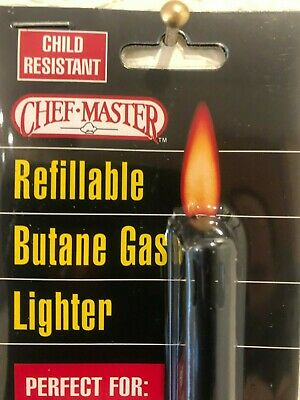 2 for $22.88 Long Handle BBQ/Camping Chef Master REFILLABLE Butane Gas Lighter