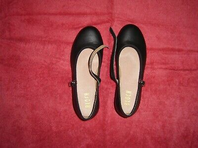 BLOCH BLACK LEATHER DANCE TAP SHOES childrens size 7