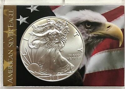 2019 Uncirculated Silver Dollar - 1 Oz. American Silver Eagle In Custom Holder