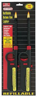 4 for $25.88 Long Neck REFILLABLE BBQ LIGHTER Adjustable Flame Factory New