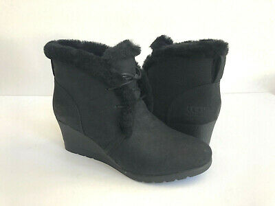 d4d34a2407ca Ugg Jeovana Black Waterproof Lace Wedge Ankle Boots Us 8.5   Eu 39.5   Uk  6.5