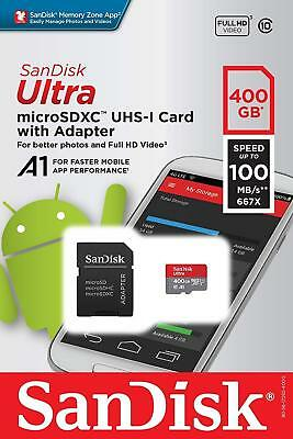 SanDisk Ultra 400GB microSDXC Memory Card + SD Adapter with A1 App Performance