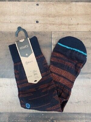 New Stance Reserve Merino Wool 200 Needle Nox Navy Socks Men's Sz L (9-12)