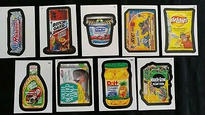 05-13 Wacky Packages ANS Bonus Stickers Lot Of 9