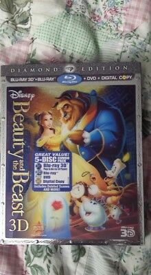 Beauty and the Beast (Blu-ray/DVD, 2011, 5-Disc Set, Diamond Edition 3D)