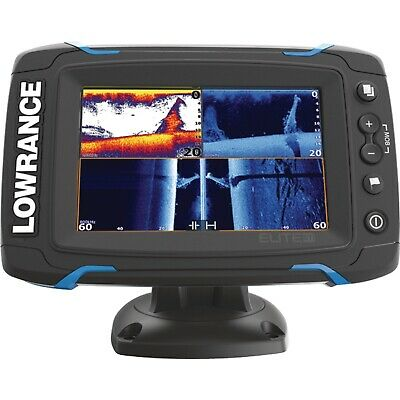 Lowrance Elite-5Ti Touchscreen Fishfinder & Chartplotter with CHIRP Sonar,Hybrid