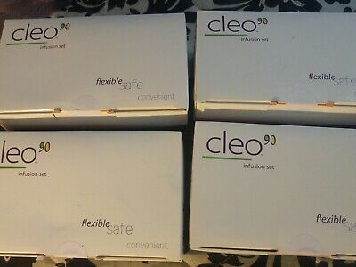 Cleo 90 Infusion Set 31 Inch 9 MM lot of 4 NEW IN BOX ..SEALED ...expired!