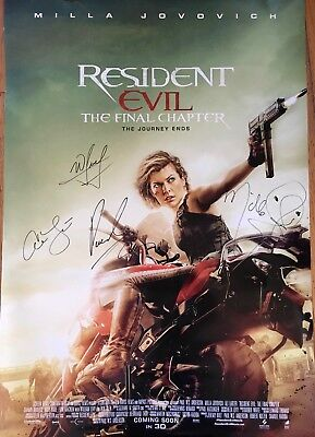 AUTOGRAPHED - 'Resident Evil: The Final Chapter' Movie Poster