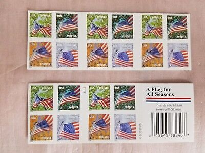 USPS Forever Stamps Flag for all Season booklet of 20