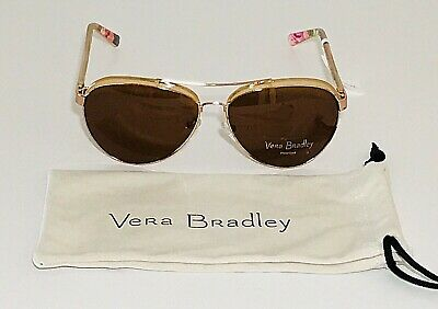 24f5262fb14f8 New Vera Bradley Women Etta Sunglasses Polarized Superbloom