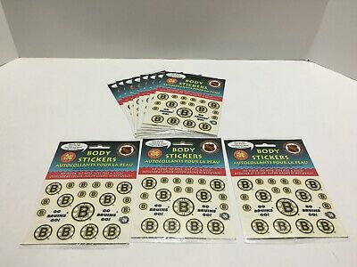 11 Brand New Sheets of NHL Okee Dokee Boston Bruins Body Stickers