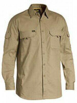 NEW Bisley Shirts  X Airflow Ripstop Khaki - 6XL - Safety Clothing -  Clothing