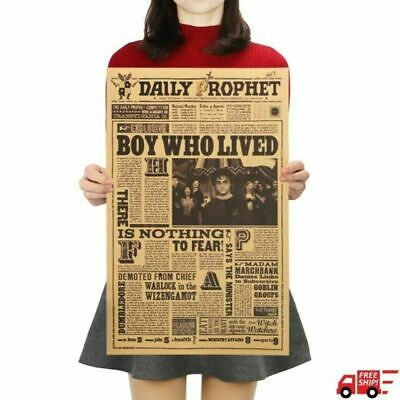 Harry Potter Daily Prophet Retro Poster Bar Cafe Decorative Kraft Paper Poster