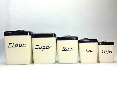 Vintage Nally Ware Kitchen Canisters