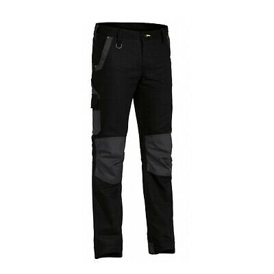 NEW Bisley Pants  Flex And Move Stretch Pant Black - 97 - Safety Clothing -
