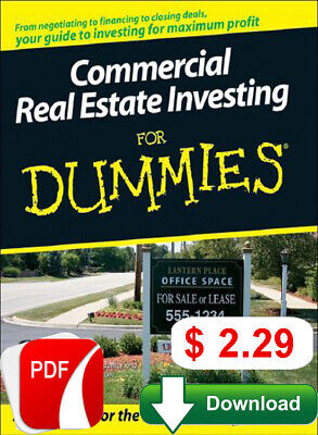 Commercial Real Estate Investing for Dummies (P.D.F)