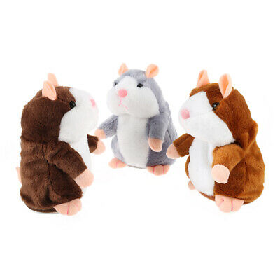 Cute Hamster Repeats What You Say Electronic Pet Talking Plush Kids Toy Gift