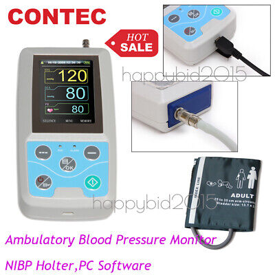 24Hrs Ambulatory ARM Blood Pressure Monitor PC Software,Adult cuff,US Seller