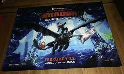 How To Train Your Dragon 3 The Hidden World 5FT SUBWAY MOVIE POSTER  #3 2019