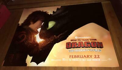 How To Train Your Dragon 3 The Hidden World 5FT SUBWAY MOVIE POSTER  #2 2019