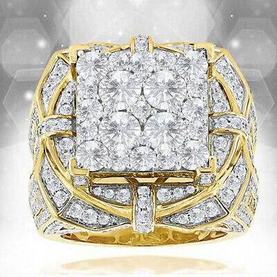 14K Solid Yellow Gold White Sapphire Ring  Wedding Women Men Jewelry Gift Sz6-10