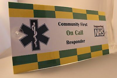 Ambulance first responder sign