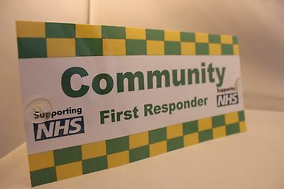 New design ambulance first responder sign