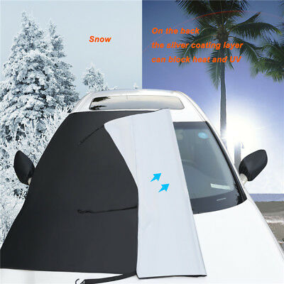 Car Magnetic Half Windscreen Cover Sun Snow Frost Wind Winter Protector Cover