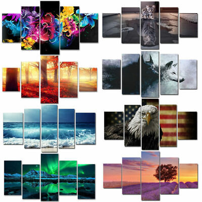 3D Unframed Modern Abstract Oil Painting Landscape Huge Wall Decor Canvas RLF