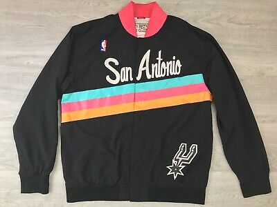 fb7fd7f361f NBA San Antonio Mitchell   Ness Hardwood Authentic Classic Warm-Up Jacket  Sz XL
