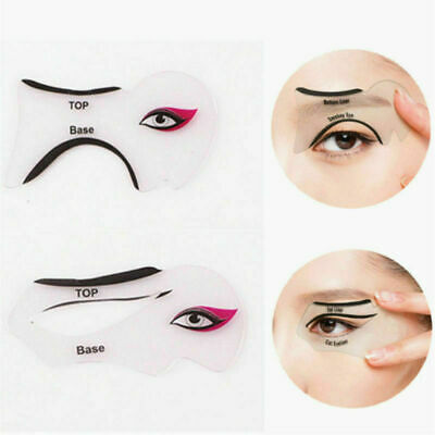 2 Pcs Eyeliner Stencil Models Template Shaper Cat Eye Line Makeup Beauty Tools