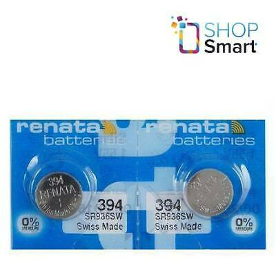 2 Renata 394 Sr936Sw Batteries Silver 1.55V Watch Swiss Made Exp 2021 New