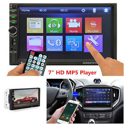 Bluetooth Stereo Radio Car 7'' HD MP5 Player FM Touch Screen + Rear View Camera