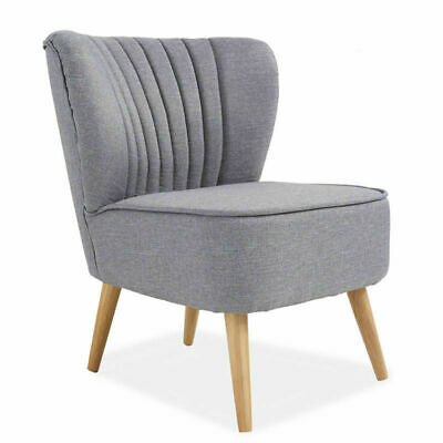 Fabric Chair Tub Upholstered Single Seat Sofa Living Room Bedroom Reception