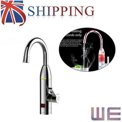 360° Instant Electric Faucet Tap Hot Water Heater LED Display Bathroom&Kitchen