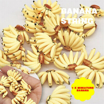 Dollhouse Miniature Food Lot 50 Loose Bunch Of Bananas Fruit Supply Charms 14703