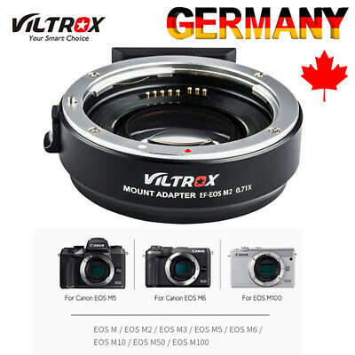 Viltrox EF-EOS M2 Auto Focus Lens Mount Adapter Ring 0.71X Focal Lenth for Canon