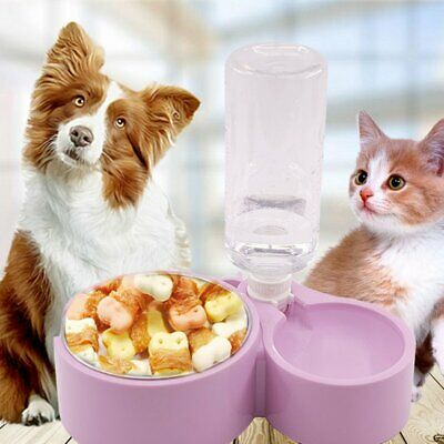 Automatic Fountain Drinker Pet Cat Dog Feeder Dish Bowl Food Water Dispenser Z1