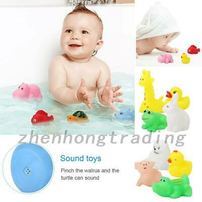 13pcs Animal Bath Toy Rubber Float Squeeze Sound For Child Baby Kids