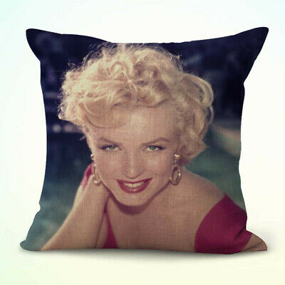 US Seller- American actress Marilyn Monroe cheap throw pillow case for couch