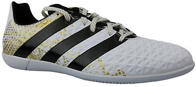 ADIDAS ACE 16.3 IN Halle weiß gold, Gr. 43 13 (US 9,5 UK 9