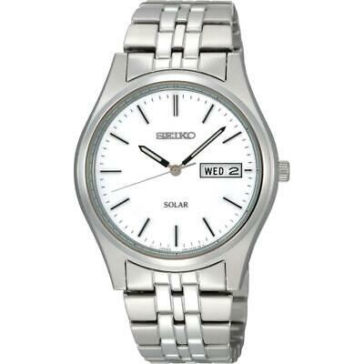 Seiko SNE031P1 Gents Solar Stainless Steel Day/Date Watch  RRP £159.00