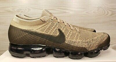 Nike Air VaporMax Flyknit Khaki Black Running Training 849558 201 Pick Size