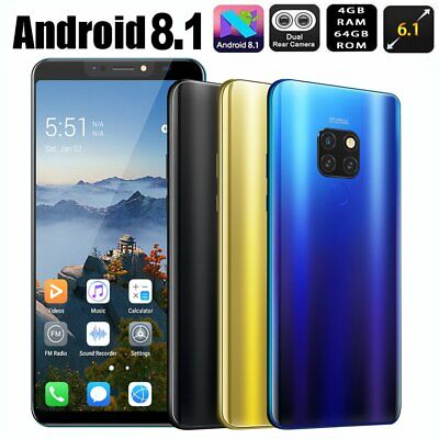 New Mate20 6.1 inch HD 4+64GB Face&Fingerprint 16+8MP Smart Phone Android 8.1 XY