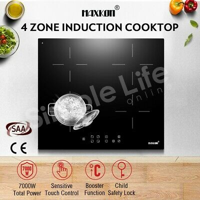 Electric Induction Cooktop w/7000W 4 Zone Touch Control Timer LCD & Child Lock